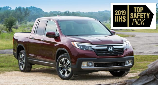 2019 Honda Ridgeline Stands Alone in IIHS Top Safety Pick Lineup