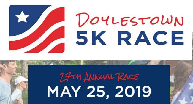 Doylestown 5k Race and Mile Fun Run 2019