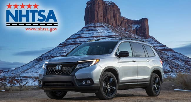 Honda Passport Earns Top NHTSA Safety Rating