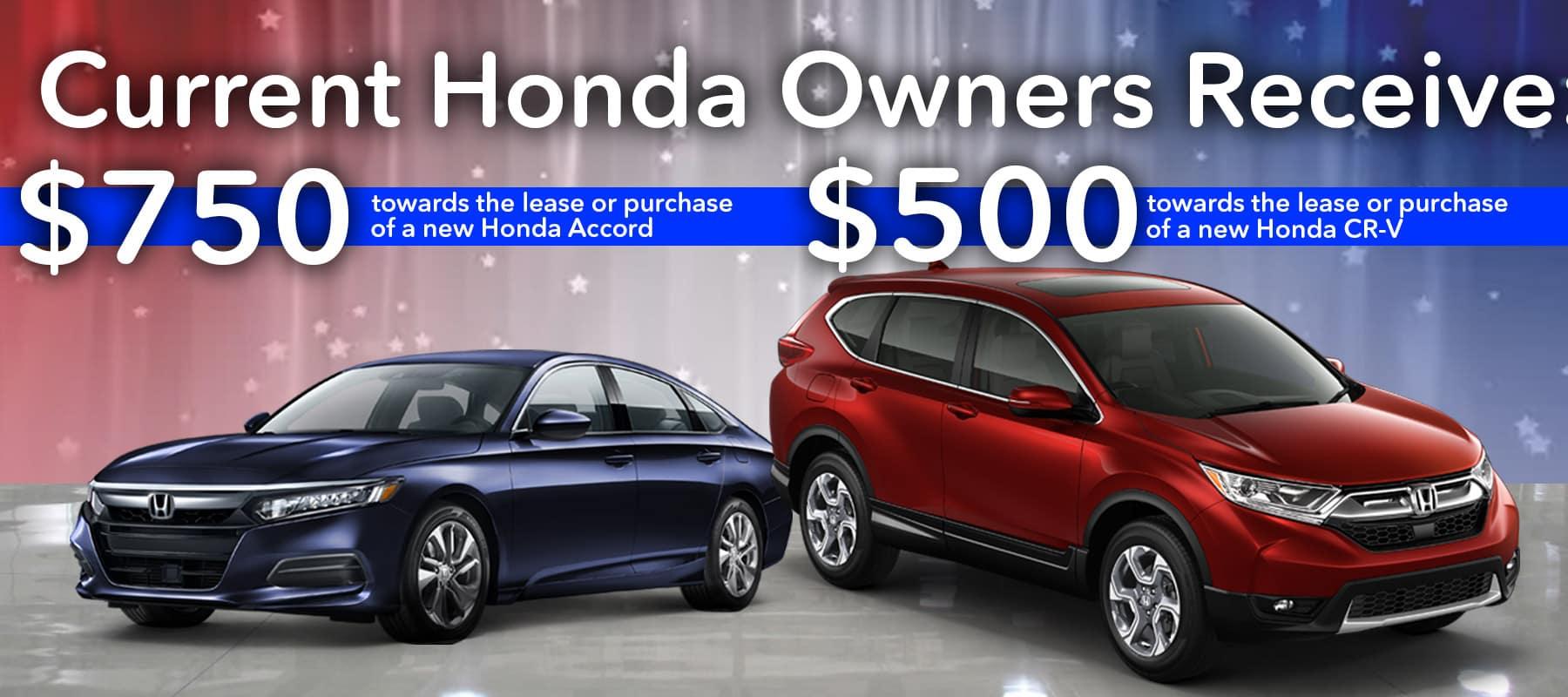 Owners Honda Com >> Honda Accord And Cr V Loyalty Program 2019 Up To 750