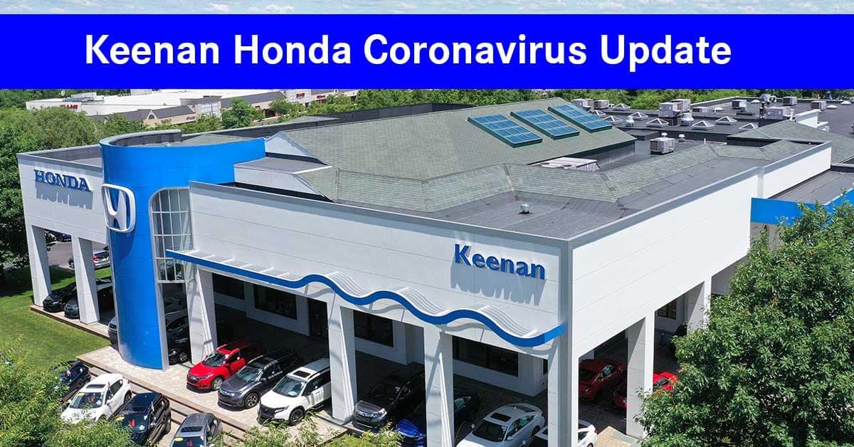 Keenan Honda Coronavirus Update