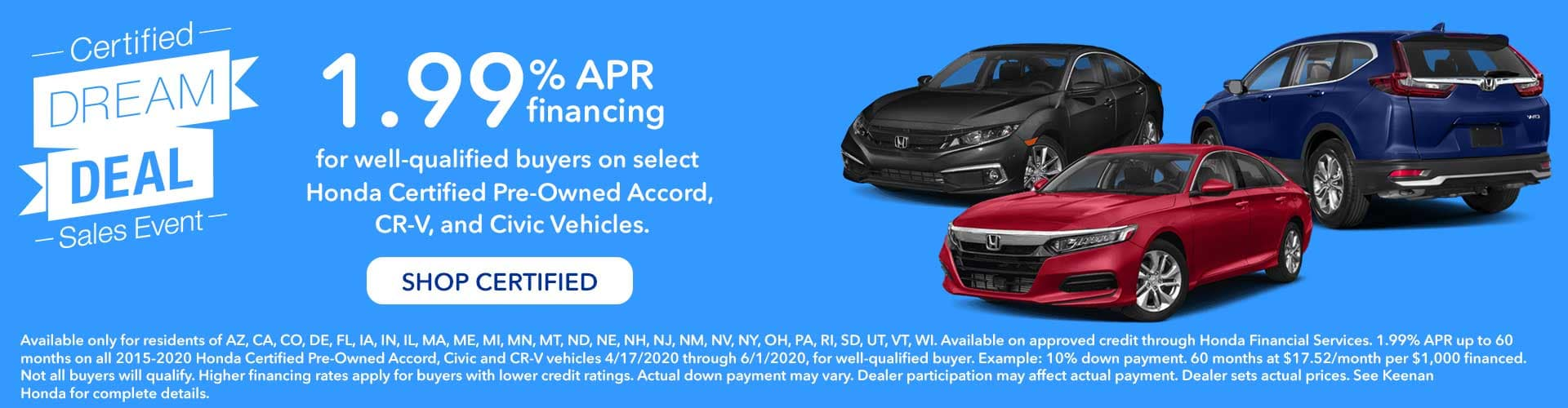 Honda Certified Pre-Owned Sales Event