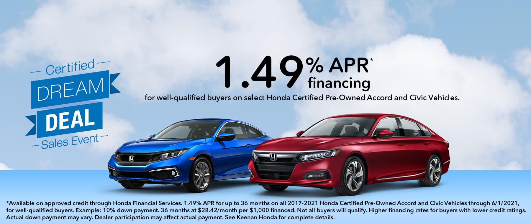 Honda Certified Dream Deal Sales Event at Keenan Honda