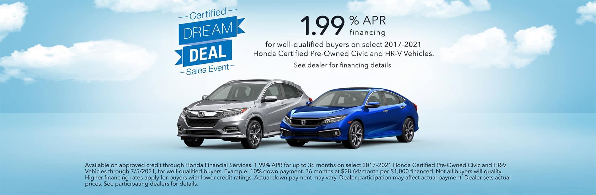 Honda Certified Pre-Owned Financing Offers at Keenan Honda