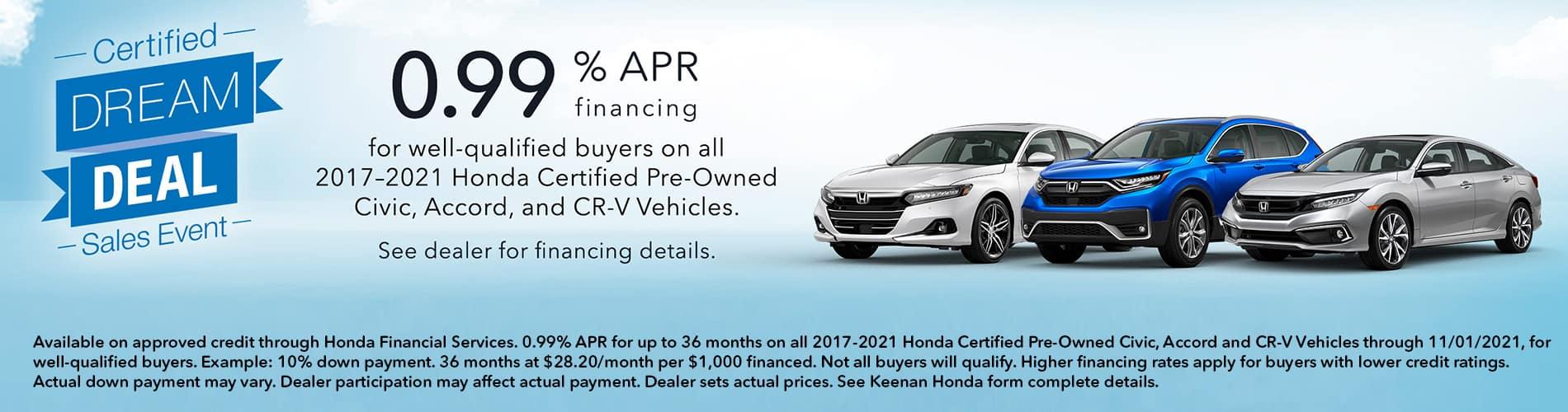 Honda Certified Pre-Owned Vehicles at Keenan Honda