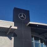 New Keenan Motors Mercedes-Benz Dealership in Doylestown PA_Blade Wall