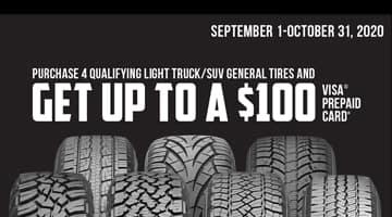 General Tire $100 Rebate at Keenan Motors