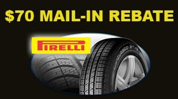 Pirelli $70 Tire Rebate