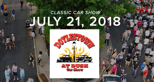 Doylestown at Dusk Car Show 2018