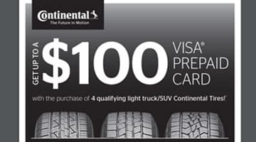 Continental Tire Rebate $100