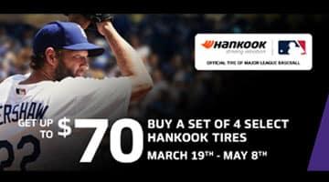 Hankook Tire Rebate $70 Mastercard®