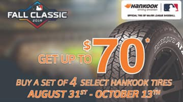 Hankook Tire Rebate Fall Classic 2019