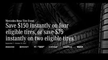 Mercedes-Benz Tire Special at Keenan Motors. Save up to $150 on new tires for your Mercedes-Benz!