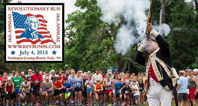 38th Annual Revolutionary Run 2018 at Washington Crossing