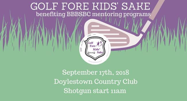Big Brothers Big Sisters of Bucks County Golf Fore Kid's Sake 2018