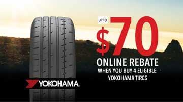 Yokohama Tire Rebate $70
