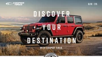 Cooper Tire Rebate up to $100 at Keenan Motors