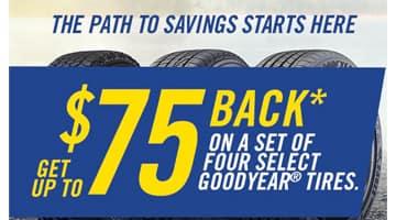 Goodyear Tire $75 Rebate at Keenan Motors
