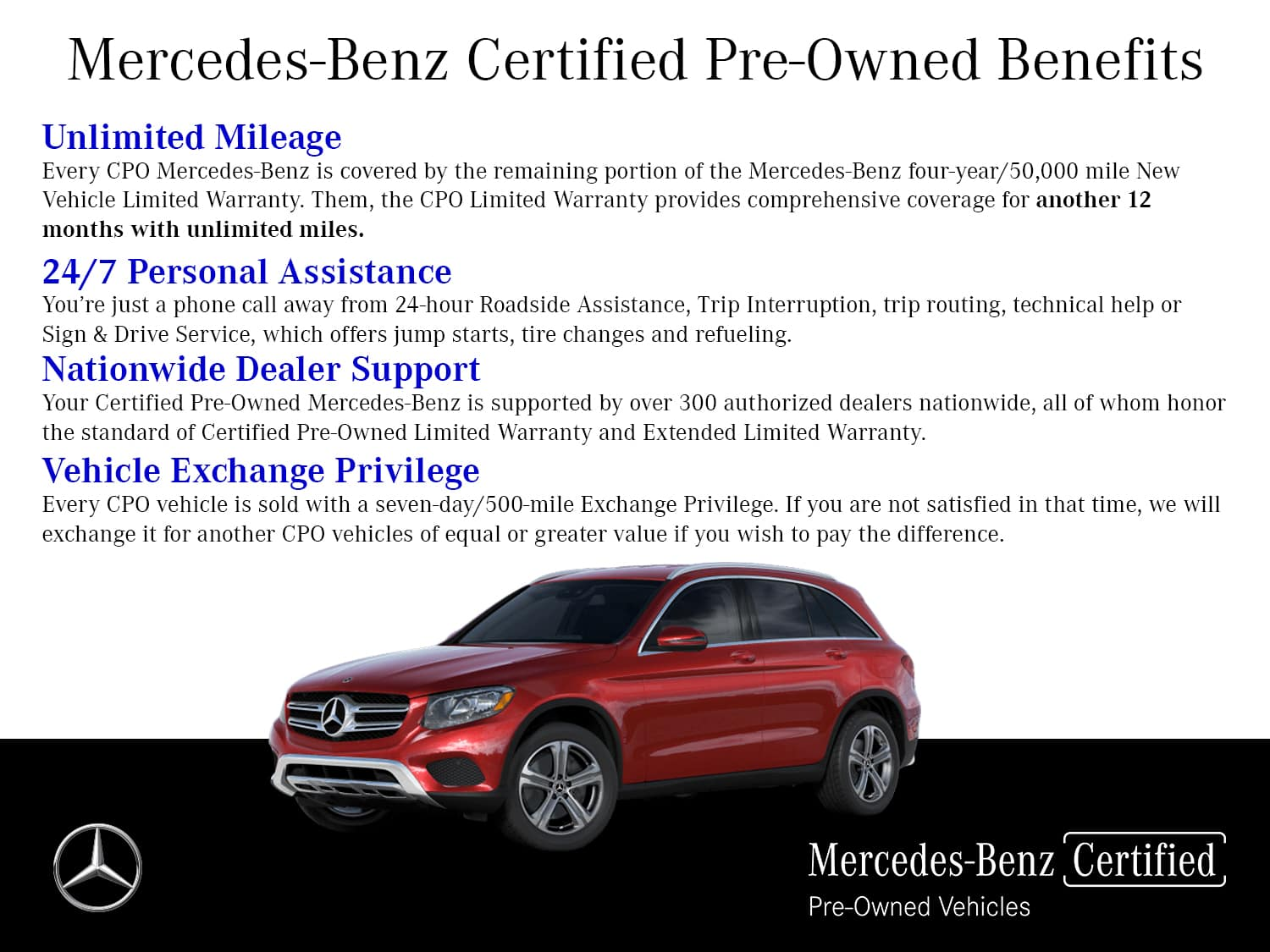Certified Pre-Owned by Mercedes-Benz. The benefits of ownership.