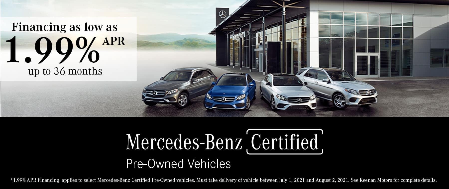 Mercedes-Benz Certified Pre-Owned Financing at Keenan Motors