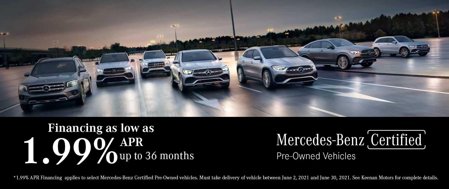 Certified Pre-Owned by Mercedes-Benz special finance offers at Keenan Motors