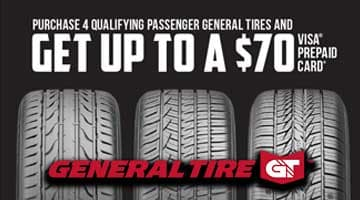General Tire $70 Rebate at Keenan Motors