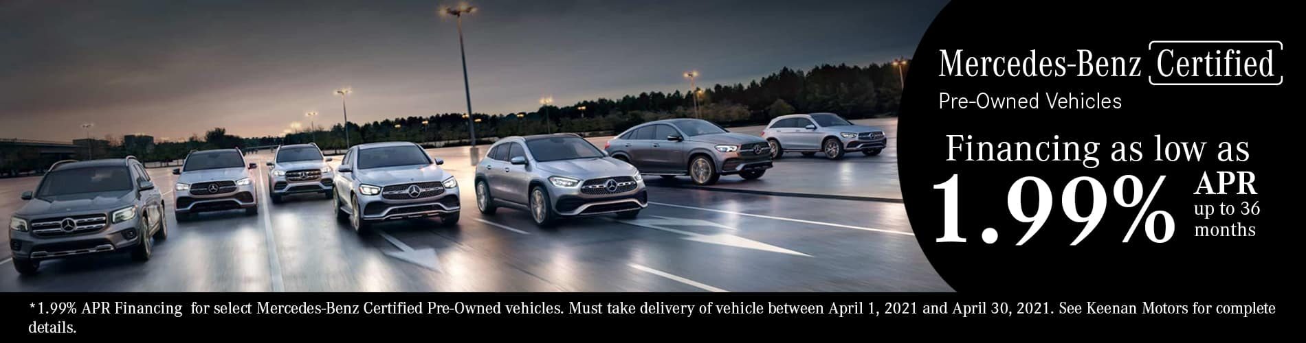 Certified Pre-Owned By Mercedes-Benz Special Financing at Keenan Motors