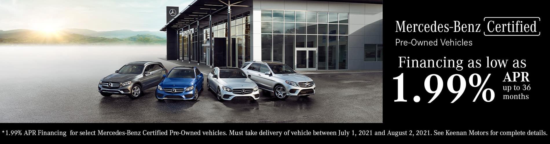 Mercedes-Benz Certified Pre-Owned Financing Specials at Keenan Motors