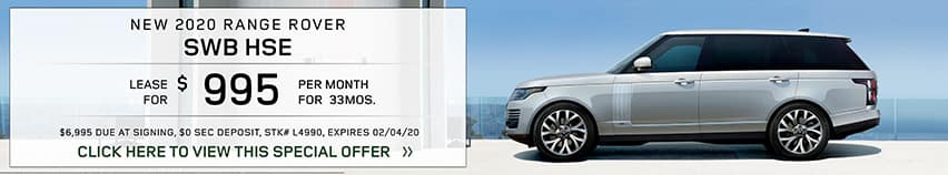 Lease a new 2020 RANGE ROVER SWB HSE for $995 a month for 33 months.