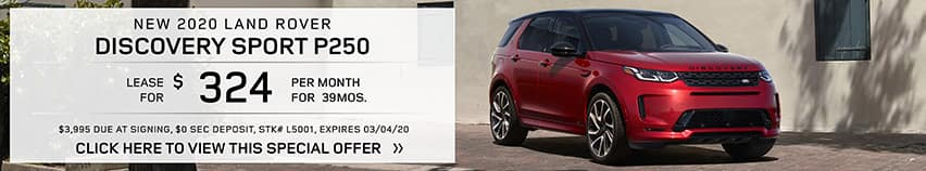 Lease a new 2020 LAND ROVER Discovery Sport P250 for $324 a month for 39 months.