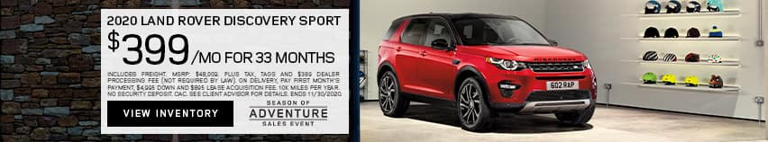 2020 Land Rover Discovery Sport $399 Per Month  For 33 Months