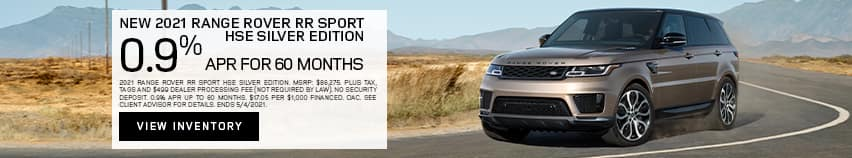 New 2021 Range Rover RR Sport HSE Silver Edition - 0.9% APR for 60 months.