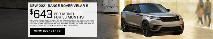 New 2021 Range Rover Velar S