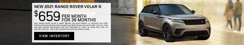New 2021 Range Rover Velar S - $659 per month for 36 months.