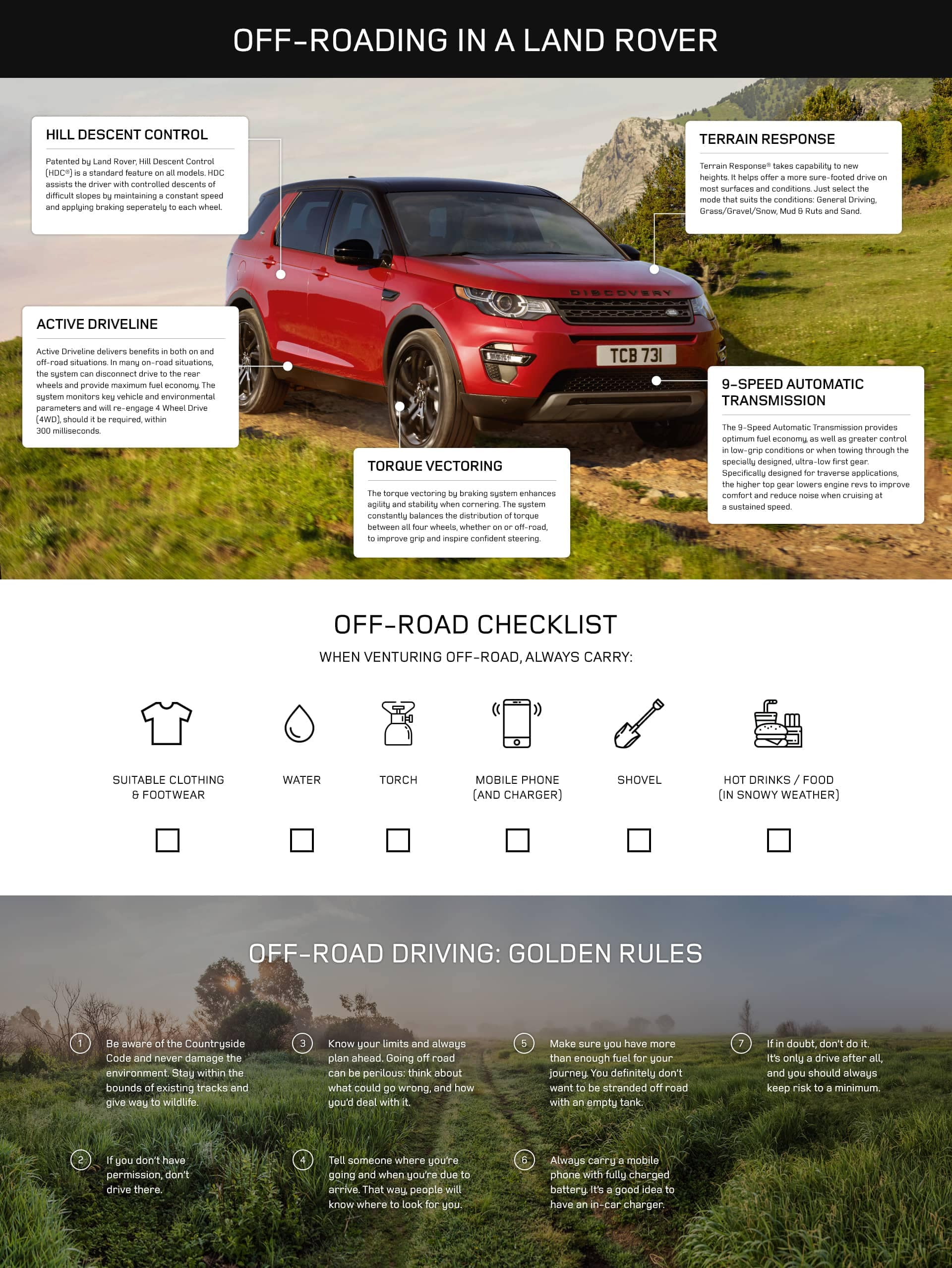 Land Rover Off Road Checklist