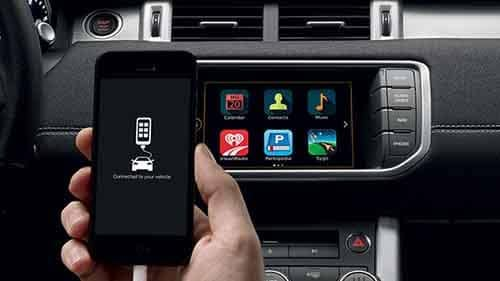 Land Rover In Control Apps with Phone Plugged In