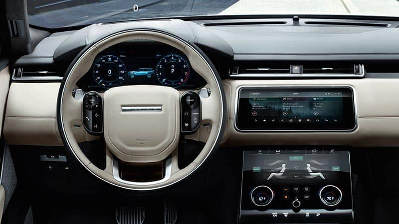 2018 Land Rover Range Rover Velar Interior Steering Wheel and Dashboard