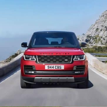 2019 Land Rover Range Rover Driving Front End View