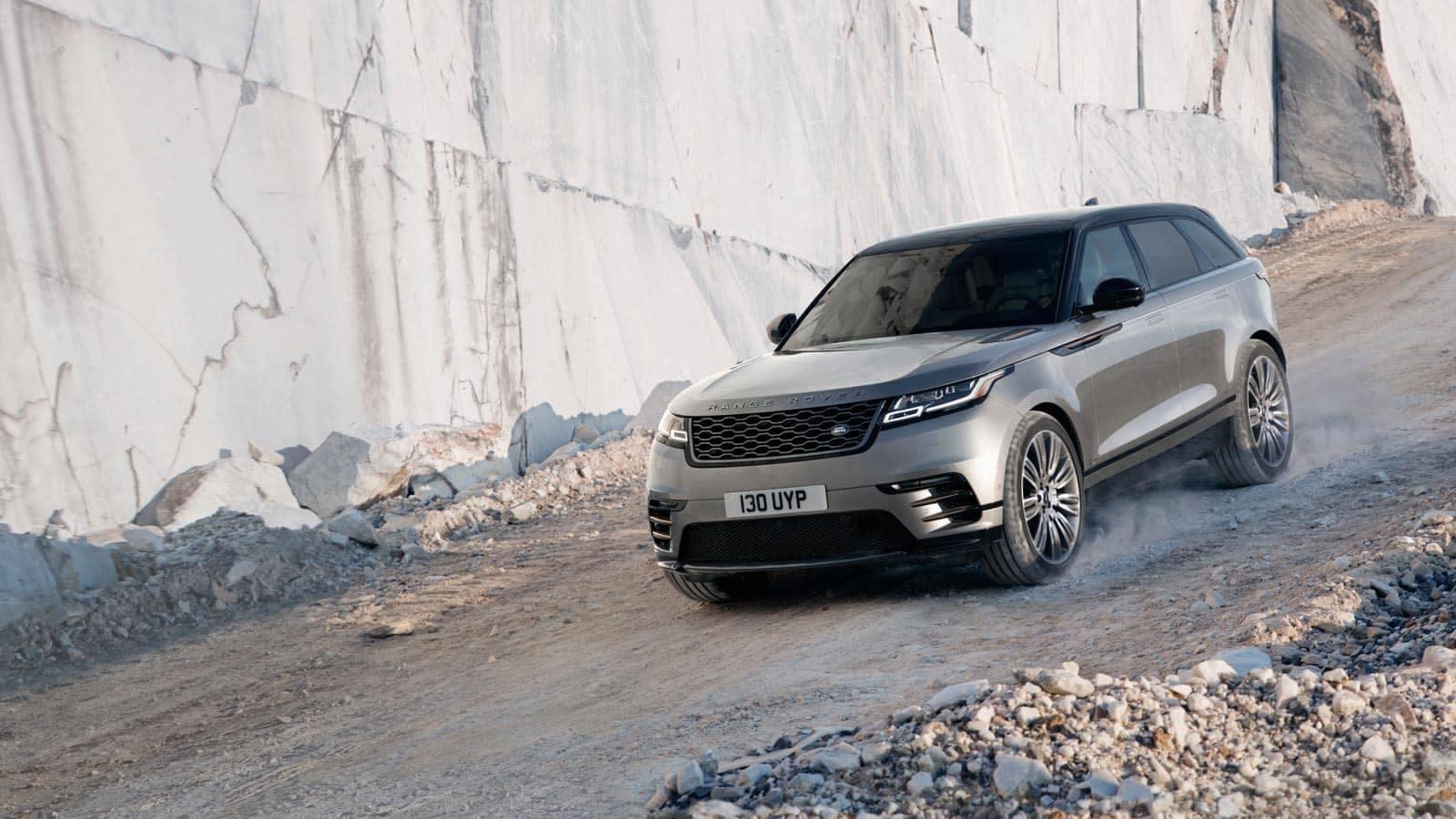 2019 Land Rover Range Rover Velar Off-Roading Down Rock Hill