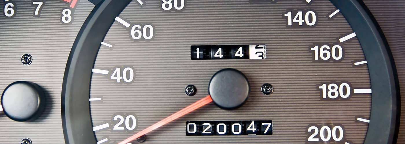 An automobile odometer