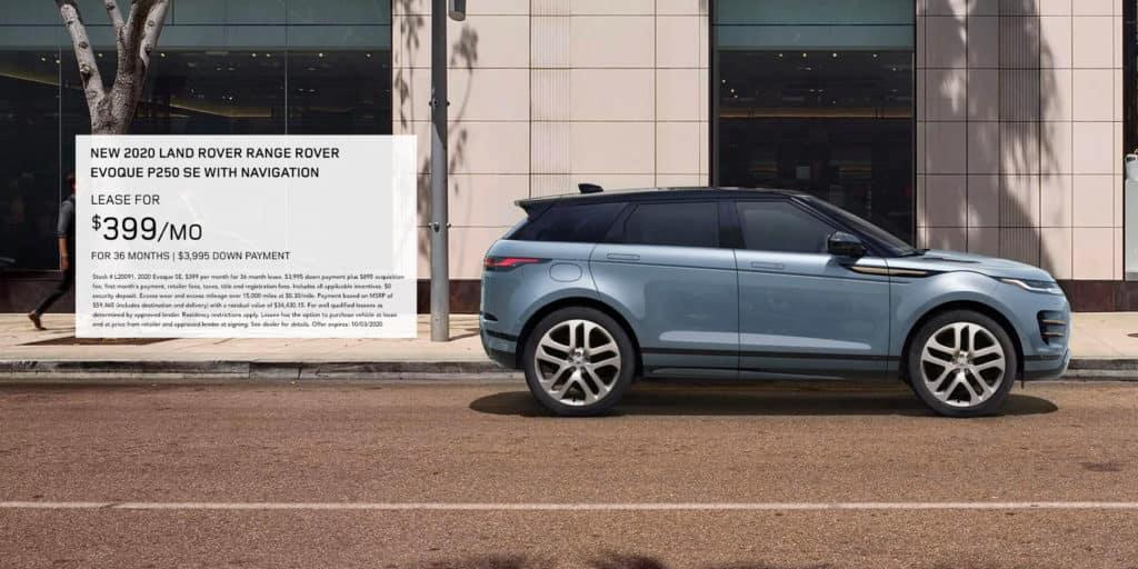 New 2020 Land Rover Range Rover Evoque P250 SE With Navigation