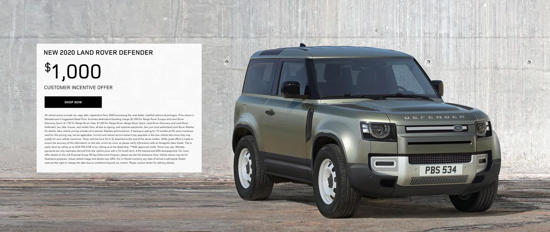 2020 Land Rover Defenders.