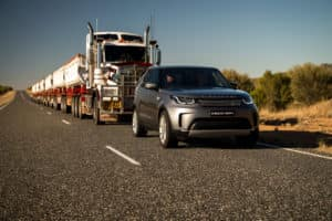 2018 Land Rover Discovery Tows 110 Ton Road Train