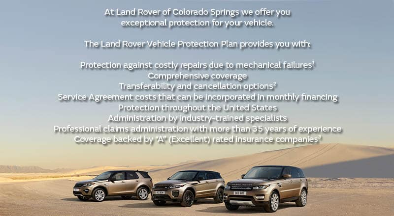 Land Rover Vehicle Protection Plans Colorado Springs
