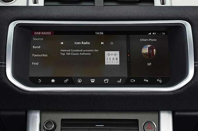 Infotainment features 2018 Range Rover Evoque