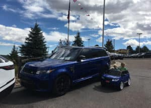 Range Rover sport at british motoring festival colorado springs