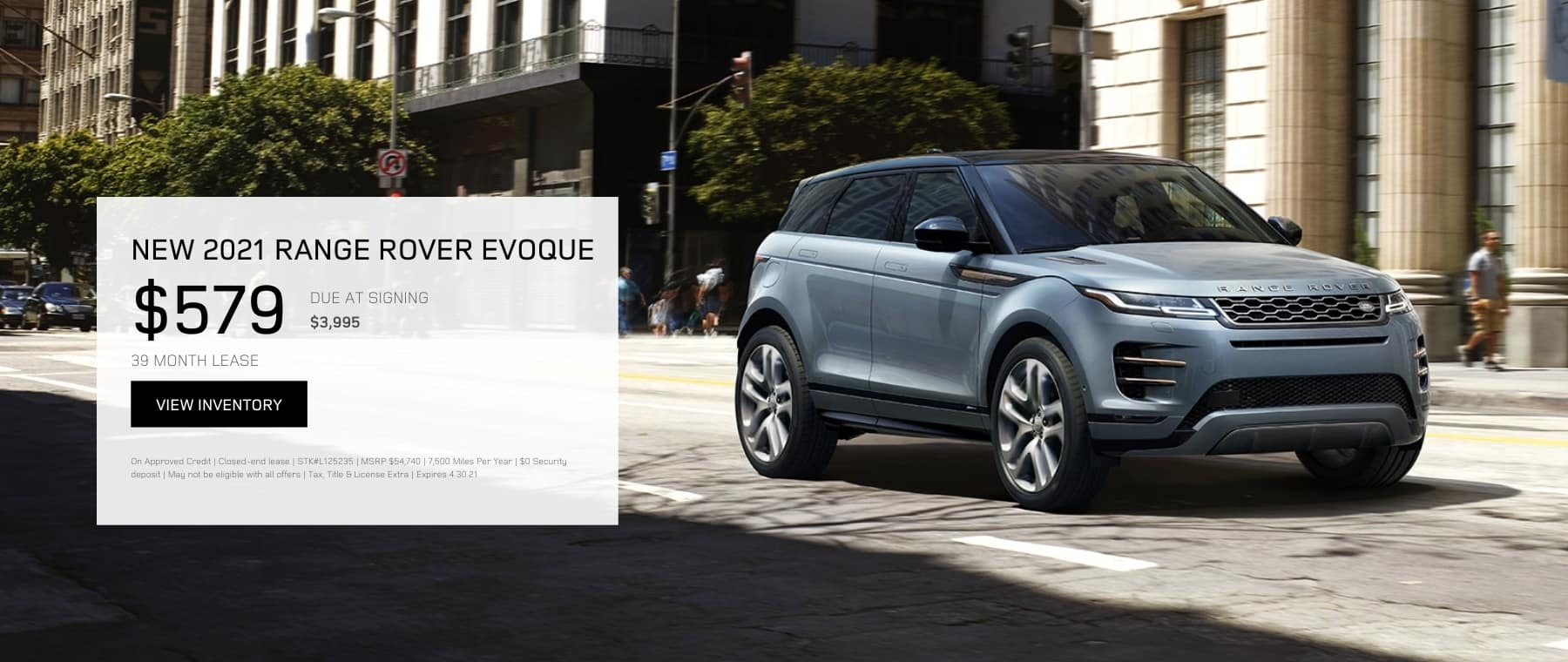 APRIL EVOQUE OFFER