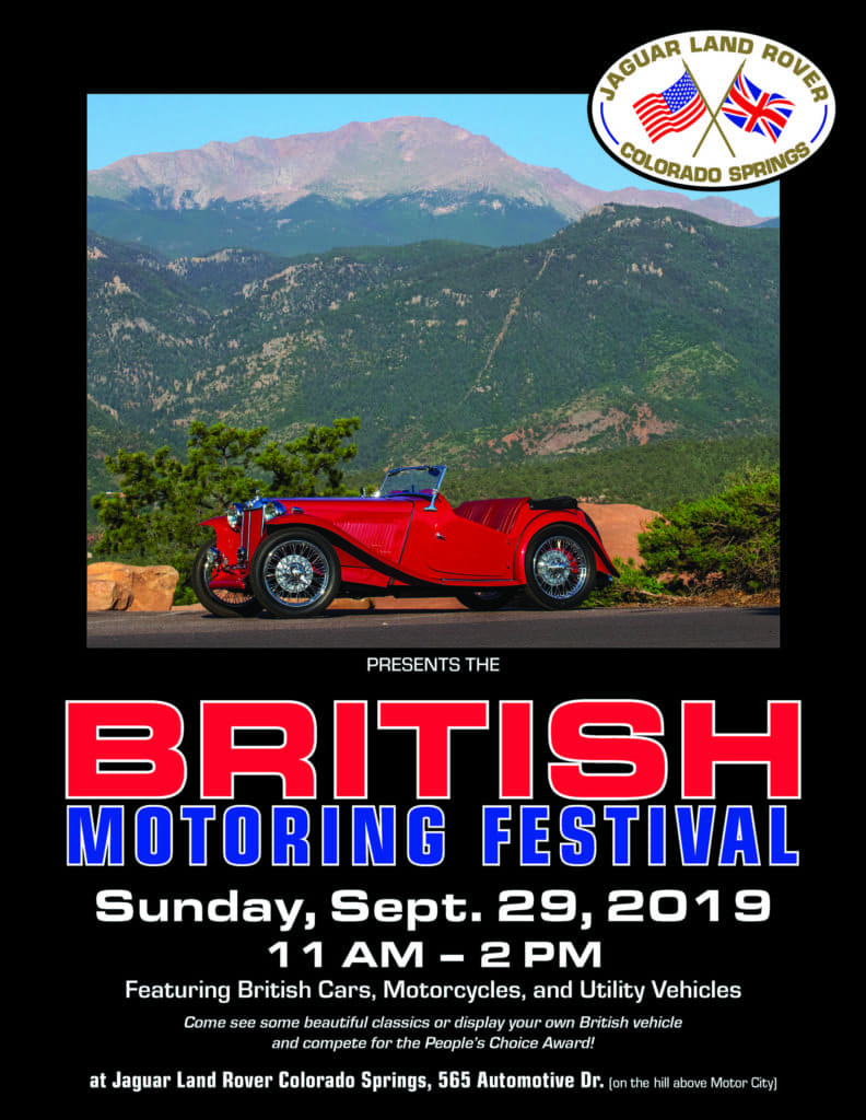 2019 British Motoring Festival car show in colorado Springs