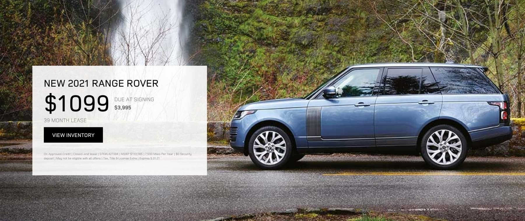MAY RANGE ROVER OFFER