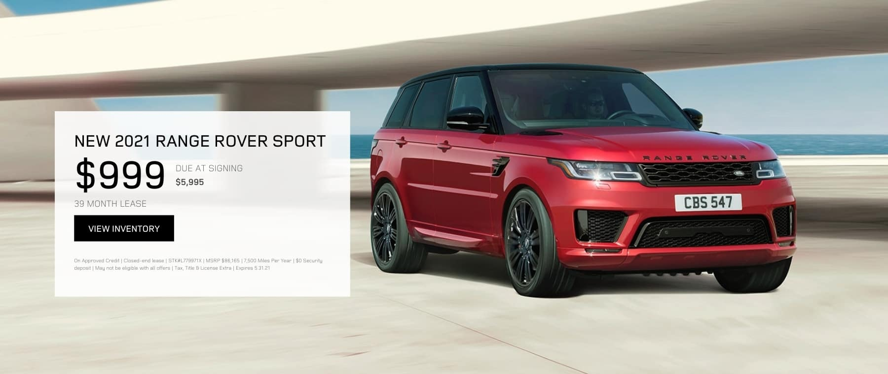 MAY RANGE ROVER SPORT OFFER